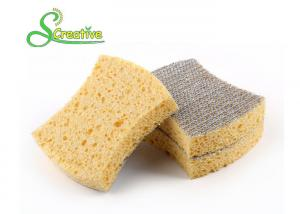 China Polyester Fabric Compressed Cellulose Sponge For Kitchen Cleaning Eco Friendly on sale