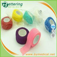 2.5cm Easy Hand Tearable Non Woven Finger wrap cohesive bandage self adhesive bandage
