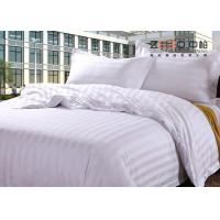 Luxury 250TC Colorful School Hotel Bedding Sets Queen Size Plain Stripe Design