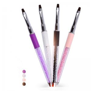 China Professional Gel Nail Brush , Nail Manicure Brush Synthetic Fiber Hair Material on sale