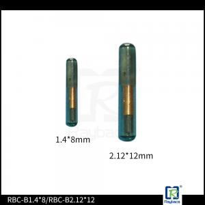 China LF Animal ID Microchip , RFID Glass Tag EM4305 Chip Transponder Microchip For Animal Shelters on sale