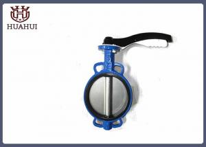 China Alumium Handle Cast Iron Butterfly Valve , DN50 Wafer Style Butterfly Valve on sale