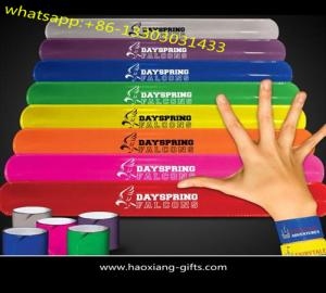 China Factory directly sale custom single color silicone slap ruler bracelet / slap wristband on sale