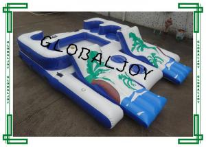China 6 Person Inflatable Water Games Raft Pool Tropical Tahiti Ocean Floating Island on sale