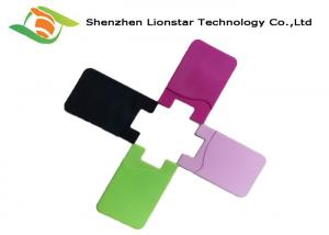 China Silicone Adhesive Cell Phone Card Holder , Smart Wallet Mobile Card Holder on sale