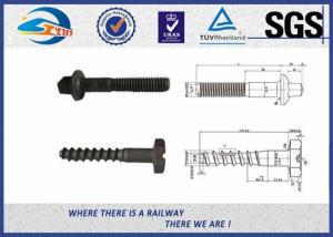 China Plain Driving Railroad Spikes Screws For Fasten Sole Plates To Wooden Sleepers on sale
