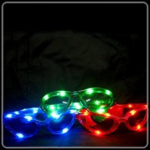 China novelty LED flashing heart shape eye glasses, party glasses for concert, carniva on sale