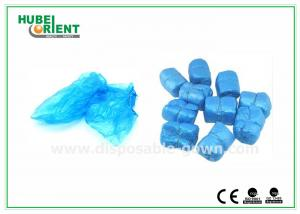 China Laboratory Blue 3.2g disposable Shoe covers , Plastic disposable foot covers Indoor on sale