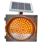 LED 8W Solar Traffic Signal Yellow Blinker Light 300mm in Diameter with Solar Panel