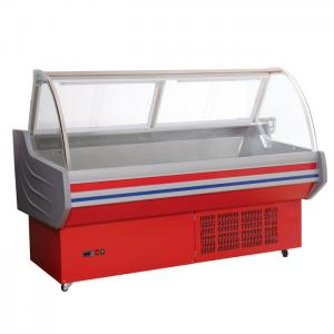China Custom Wheels Butcher Display Fridge 79 * 46 * 35mm For Convenience Store on sale