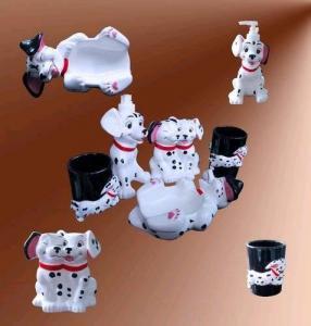 China Four-piece Ceramic Bathroom Accessories Set 1 on sale