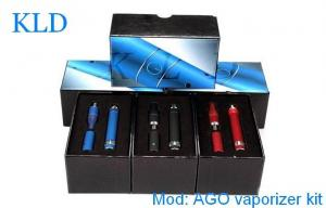 China 14mm Blue AGO G5 e-cigarette mechanical mod 510 thread Ecig 650mah with LCD Screen on sale