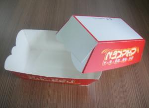 China Red Fast Food Paper Box For Food On The Go , OEM Logo Printed on sale