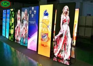 China P2.5 Poster Mirror Indoor Full Color LED Display For Clothing Shop , 192mm X 192mm Module Size on sale
