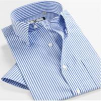 China Men's Non Iron Shirts » Men's Business Short Sleeve Slim Fit Cotton Stripe Shirts on sale