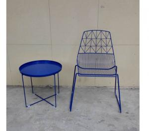 Quality Modern Metal Wire Wedding Dining Chairs Steel Bertoia Dining Chair for sale