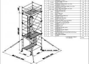 China Stable Steel Scaffolding Systems Aluminum Mobile Lightweight Scaffold Tower on sale