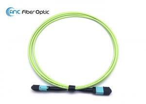 China 12 Fiber Female MPO To MPO Fiber Optic Cable Assemblies OM5 50/125 Type B on sale