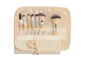 China Eco Bamboo Mini Cosmetic Brush Set with Natural Gunny Brush Roll on sale