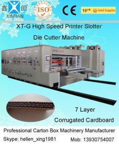 China Remote Control Flexo Printer Slotter Machine With Lead Edge Feeder 150 Pieces/Min on sale