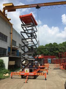 China 12.0m Electric Self Propelled Hydraulic Scissor Lift Platform High-Performance hydraulic motor on sale