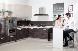 China Durability Kitchen Wardrobe Cabinet Uniformed Finish Heat Resistant on sale