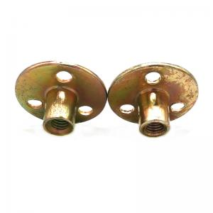 China Yellow Zinc Plated Blind Rivets Nuts With Three Hole / Round Base M10 T Type Tee Nut on sale