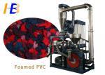 Foamed PVC Plastic Crusher Machine , Plastic Powder Machine For PVC Granules