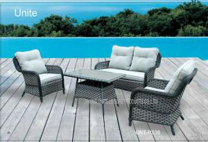 Quality Outdoor Rattan Garden Furniture Sets With Cushion , Rattan Table And Chairs for sale