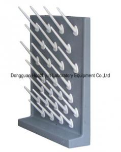 China PP Material Lab Drying Rack Pegs , Laboratory Glassware Rack Wall / Desktop Mounted supplier