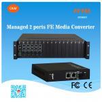 FCTEL Managed 2 Ports 10/100M Ethernet NMS Fiber Media Converter RJ45 POE Transceiver