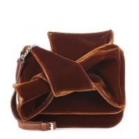 New Design Velvet Shoulder Bag For Women Small Crossbody Bag with exaggerate Bow in Black and Brown color Chain Handbags