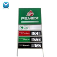Mexico 18inch White Outdoor IP65 88.88 LED number display Gas station led price sign