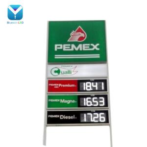 China Mexico 18inch White Outdoor IP65 88.88 LED number display Gas station led price sign on sale
