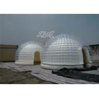 Dome Inflatable Clear Bubble Tent Portable With 2 Layers 0.6mm PVC