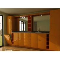 Wood / Bamboo Modern Bathroom Cabinets Vanities Satin Surface