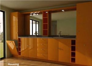 China Wood / Bamboo Modern Bathroom Cabinets Vanities Satin Surface on sale