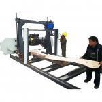 Scierie portative de bande - Engie diesel a actionné la bande en bois portative a vu le type horizontal