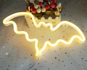China 120 PCS LED Flexible Strip Lights / Neon Light Wall Signs Decor For Halloween WW Red Purple Color on sale