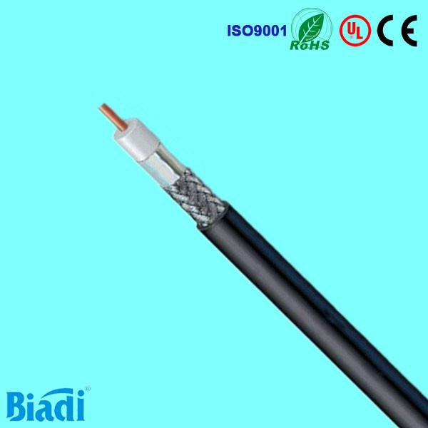 Triple shielded rg6/u coaxial cable solid core made in china for ...