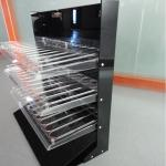 China 3 Tiers Acrylic Rack for Lipgloss Compartment Plexiglass Lipstick Display Stand wholesale