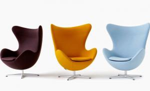 China Arne Jacobsen Egg Modern Classic Office Chair Replica Metal Frame Optional Colors on sale