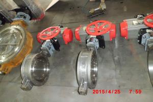 China Steam High Performance Butterfly Valve , CS / SS Material Metal Seated Butterfly Valve on sale