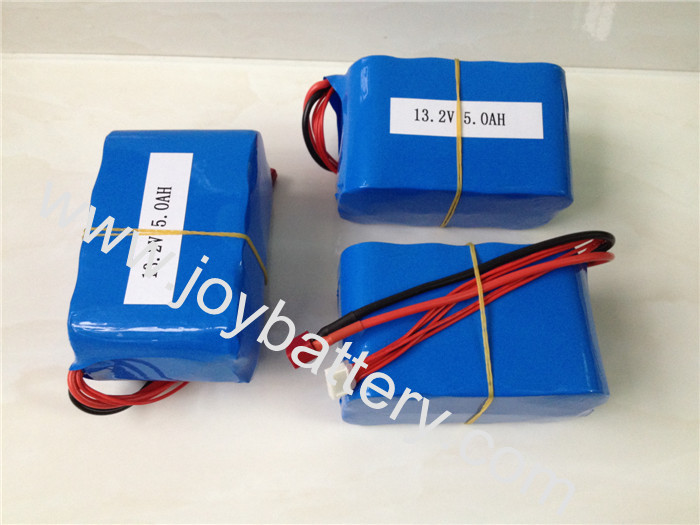A123 LiFePo4 ANR26650M1A 3.3V 2500mah 26650 cell 4S2P 13.2V 5Ah battery pack with T plug