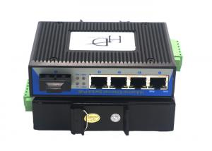 China RJ45 1 Port SFP Fiber Ethernet Switch 12~48V With Full / Half Duplex Mode on sale