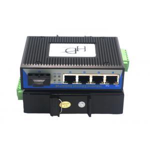 China RJ45 1 Port SFP Fiber Ethernet Switch 12~48V With Full / Half Duplex Mode on sale