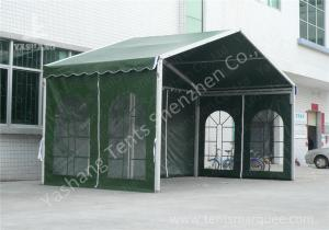China Outdoor Green Aluminum Frame Fabric Tent Structures , Fabric Shelter Systems on sale