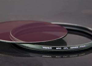 China CPL Filter For DSLR Camera With Ultra Slim Black Aviation Aluminum Alloy Frame on sale