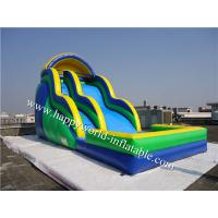 bounce round inflatable water slide , above ground pool water slide