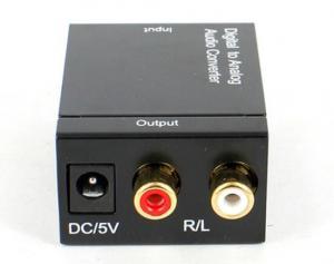 China Coax Toslink Digital analog audio Wholesale factory supply Analog+3.5mm to Digital Audio Converter box on sale